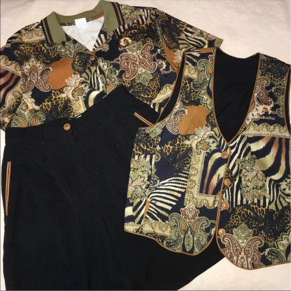 Vintage 90s Natty Vest shorts set large